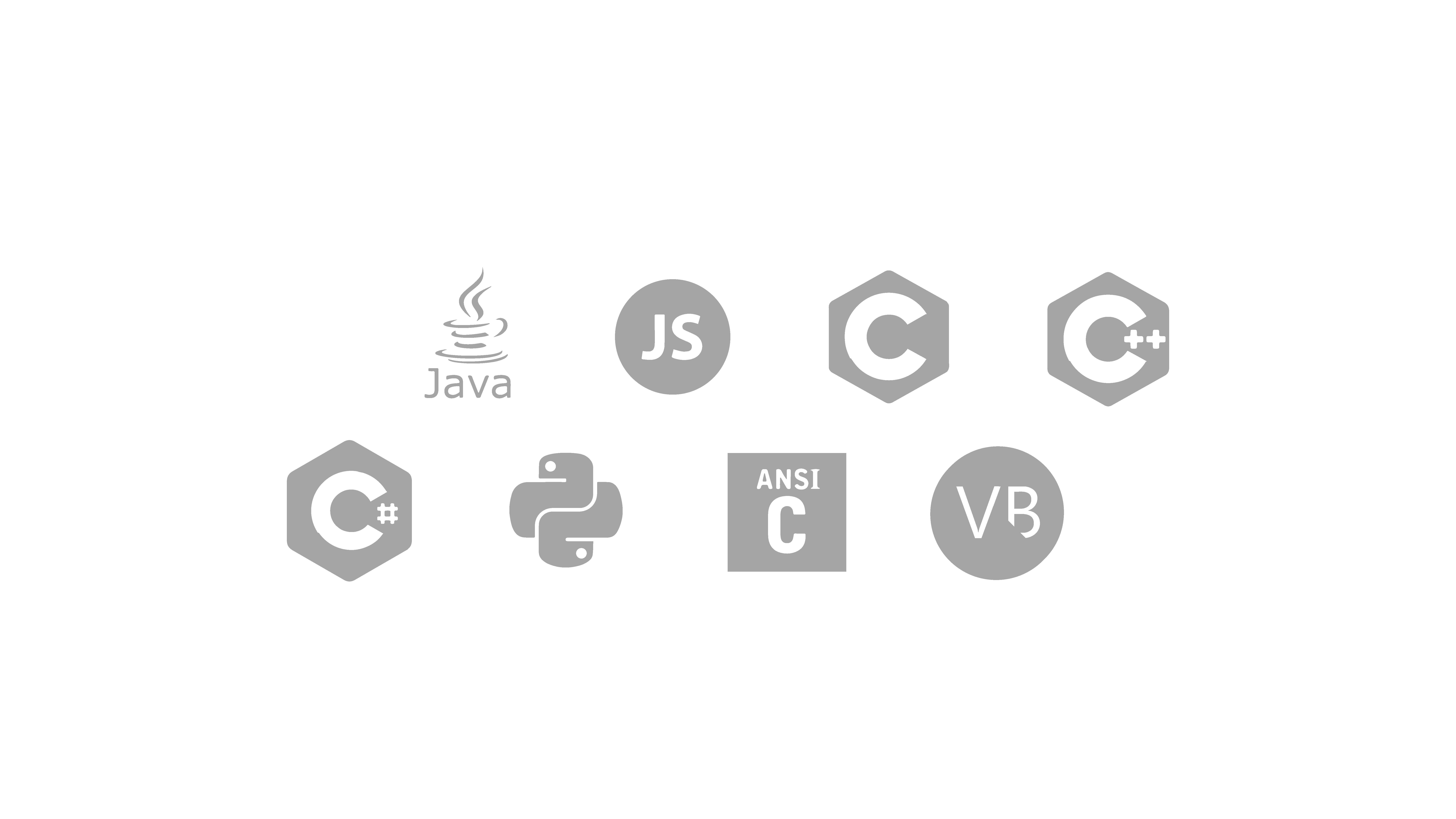 Logos de los lenguajes de programación que domina Pragma